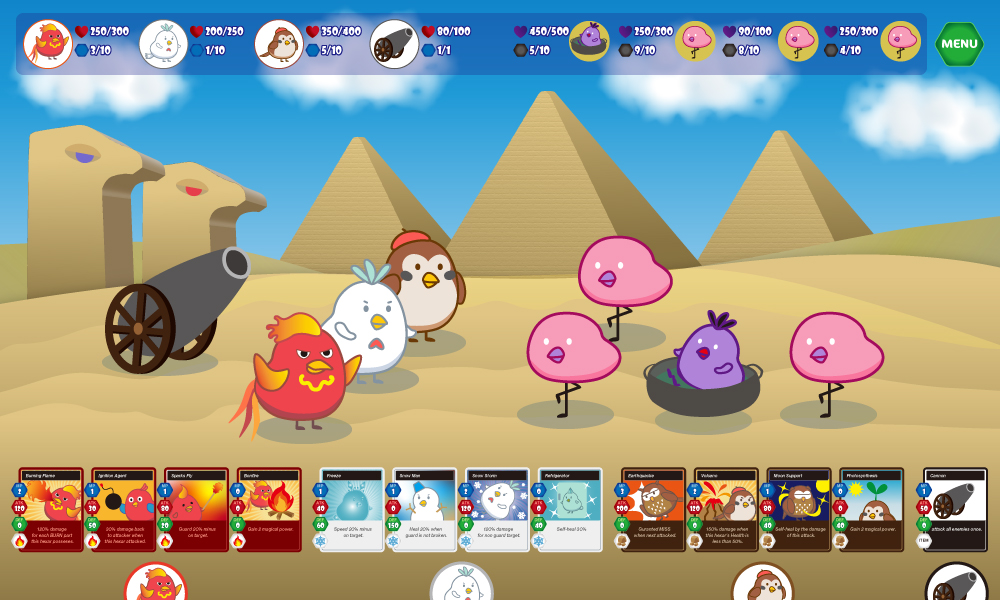 game play screen